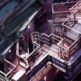 Looking down from the blast furnace