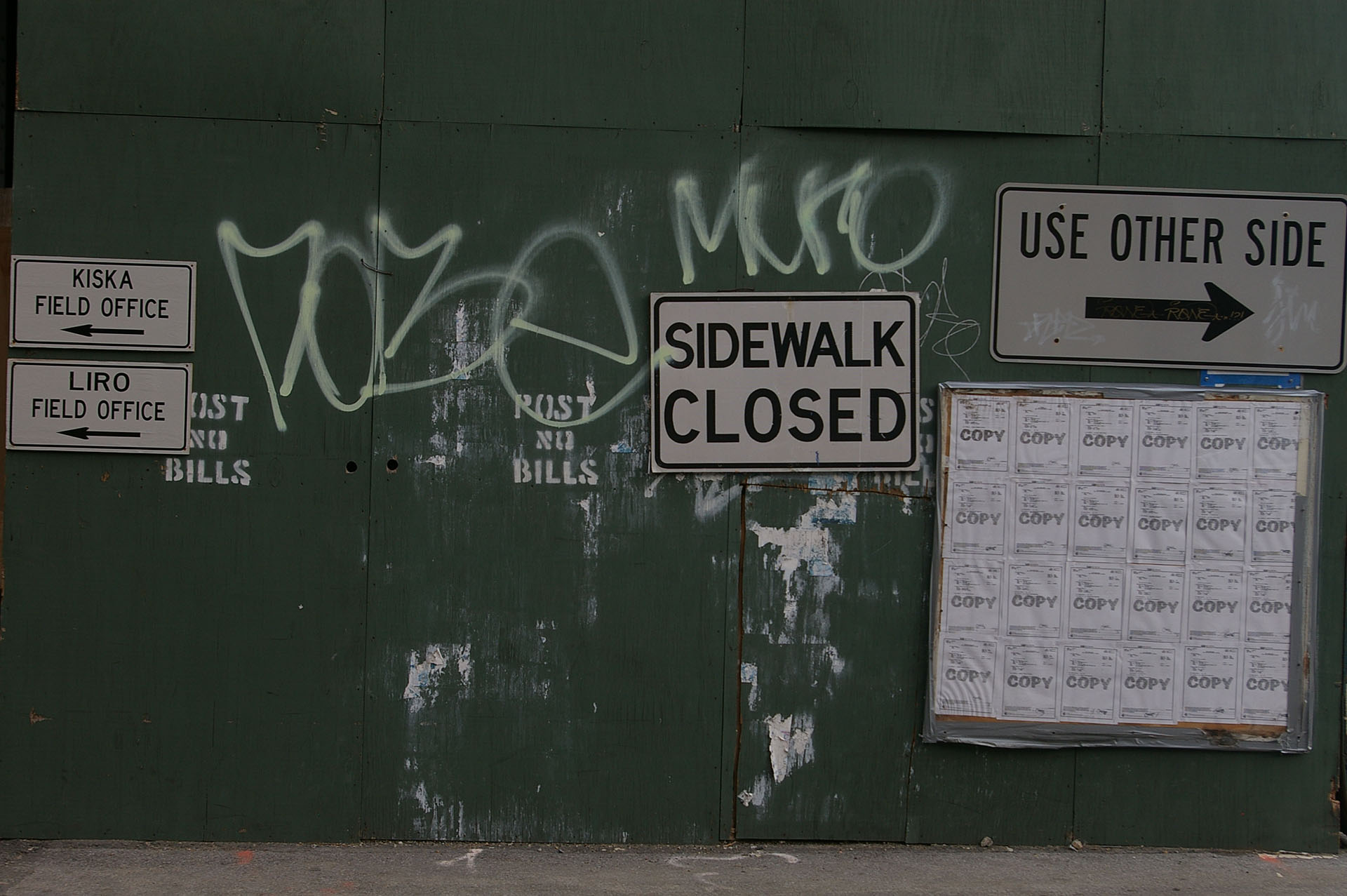 2008 10 sidewalk closed